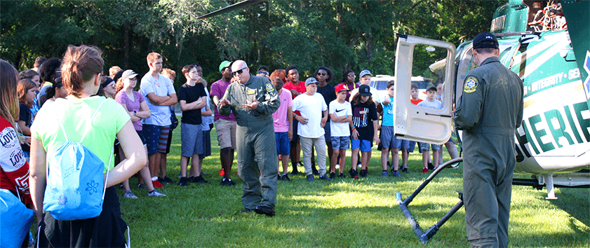 Volusia Sheriff's Officers teaching kids